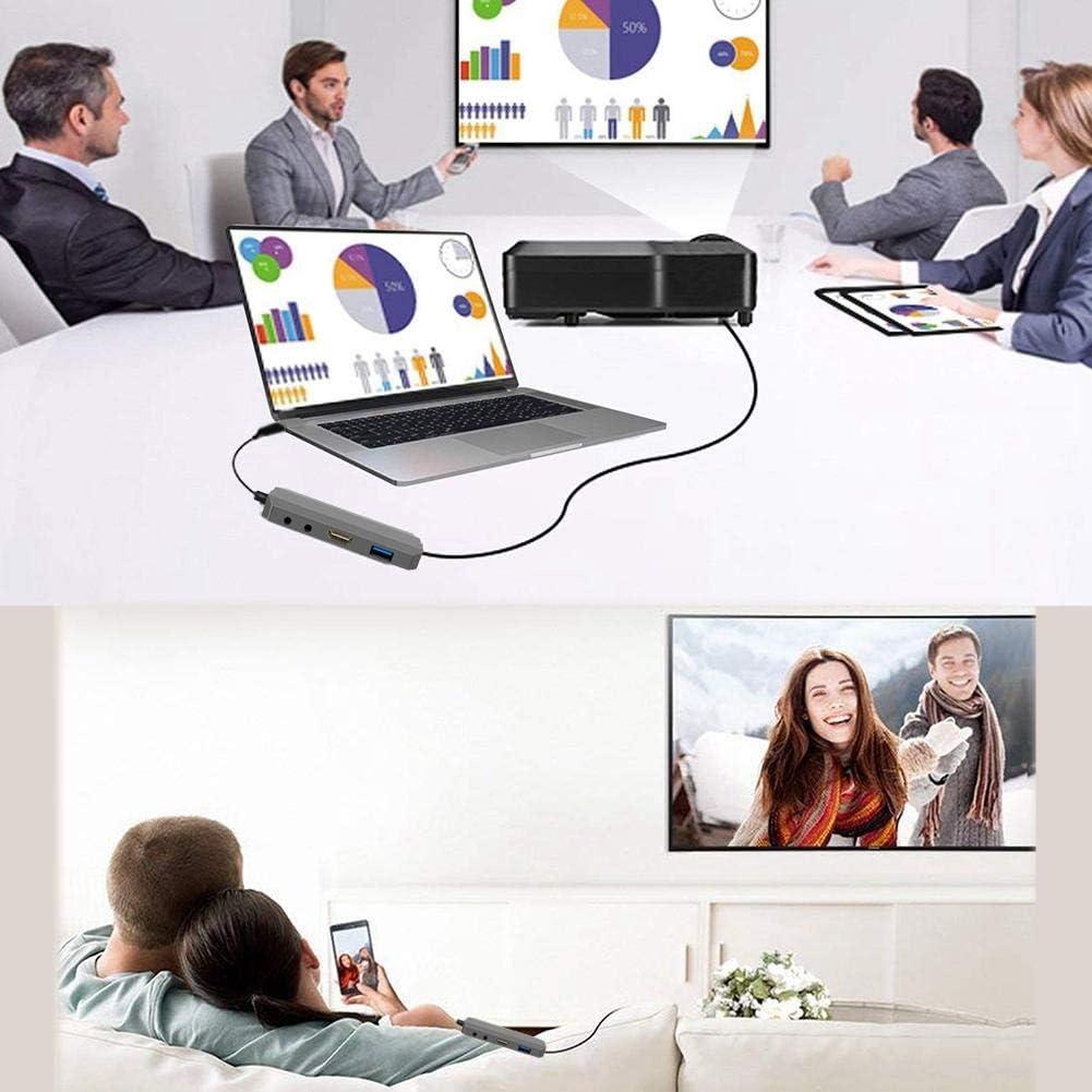 SHZONS USB C Hub,Hub Adapter,9 in 1 Thunderbolt 1000M RJ45 Ethernet,4K HDMI,3.0 PD 2.0 Charging Card Reader Audio Mic Port MacBook Chromebook More