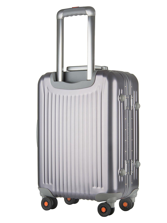 All Aluminum Luggage, HardShell Carry On Spinner Suitcase Grade 5 Aluminum-Magnesium Alloy TSA Approved 20'', Gunmetal by Clothink (Image #4)