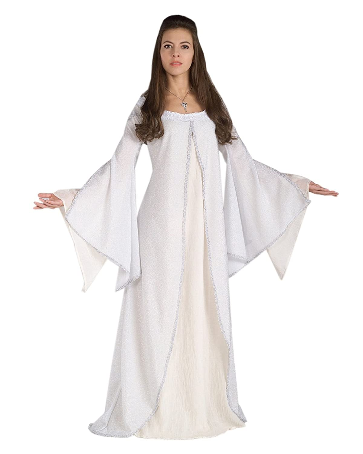 Amazoncom Arwen Theatre Costumes White Gown LOTR Lord of the