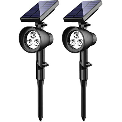 InnoGear Solar Lights, 2-in-1 Waterproof 3 LED Solar Spotlights Adjustable Wall Light Landscape Lighting Security Light Outdoor Auto On/Off for Patio Deck Yard Garden Driveway, Pack of 2 : Garden & Outdoor