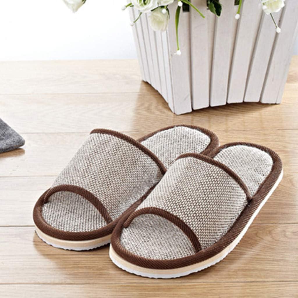 LuckyGirls Mujeres Hombres Parejas Moda Casual Zapatillas de casa Zapatos de Piso Plano Sandalias