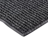 """Tools & Hardware : NoTrax 117 Heritage Rib Entrance Mat, for Lobbies and Indoor Entranceways, 3' Width x 5' Length x 3/8"""" Thickness, Charcoal"""