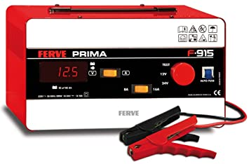 FERVE F-915 Prima Cargador 12-24V 8-16A: Amazon.es: Coche y moto