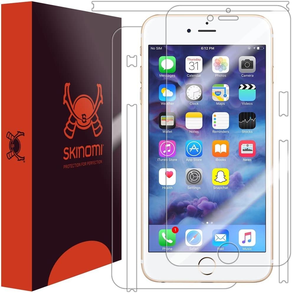 Skinomi Full Body Skin Protector Compatible with iPhone 7 Plus (5.5 inch)(Screen Protector + Back Cover) TechSkin Full Coverage Clear HD Film