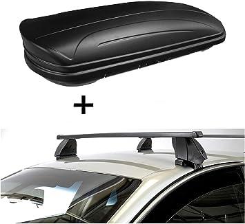 Dachbox Vdpmaa320 320 Liter Abschließbar Schwarz Matt Dachträger K1 Medium Kompatibel Mit Seat Leon Ii 1p 4türer 09 13 Auto