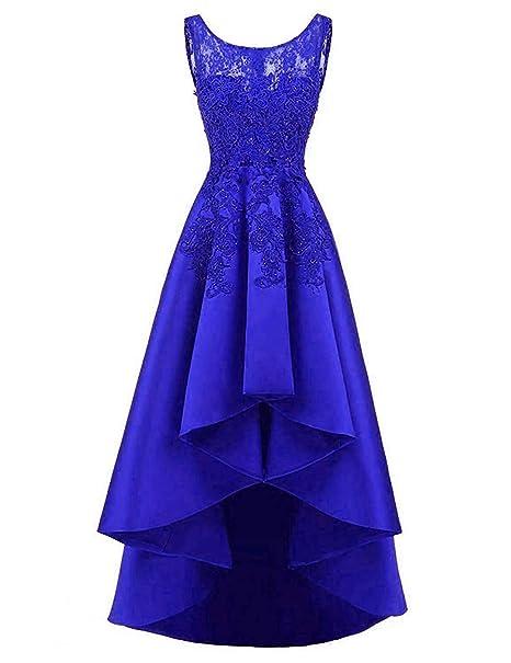c7527772a0 OkayBridal OK0106 - Vestido de satén para Mujer con Encaje para graduación