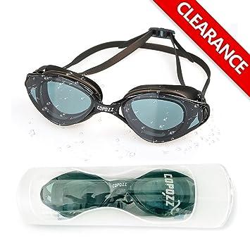 09569b9faf Lunettes de natation, Copozz à miroir clair, lunettes de natation avec  protection UV antibuée, ...