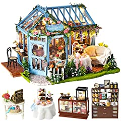 Welcome to CuteBee's world of dollhouses,in which is full of imagination and fun!Package Include: 1.A beautifully colored box(it's perfect gifts in various festivals for teenagers and adults). 2. DIY house kit(include all the furnitures and a...