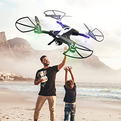 Goodfans 32 x 32 x 8 cm Long Time Standby Mini Foldable RC Quadcopter Mini Drone Helicopters: Garden & Outdoor