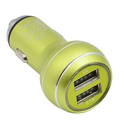 Cargador de Coche EUzeo 5V/2.1A, 5V/1A,Dual USB,DC 12V-24V ...