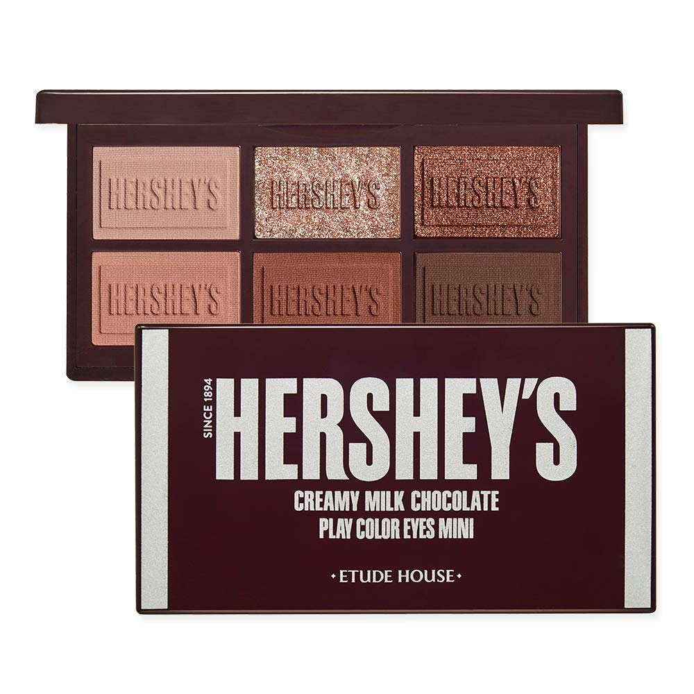 ETUDE HOUSE Play Color Eyes Mini HERSHEY (Original) - Eyeshadow Pallette Long Lasting For Eye Makeup - Valentines Day Gift