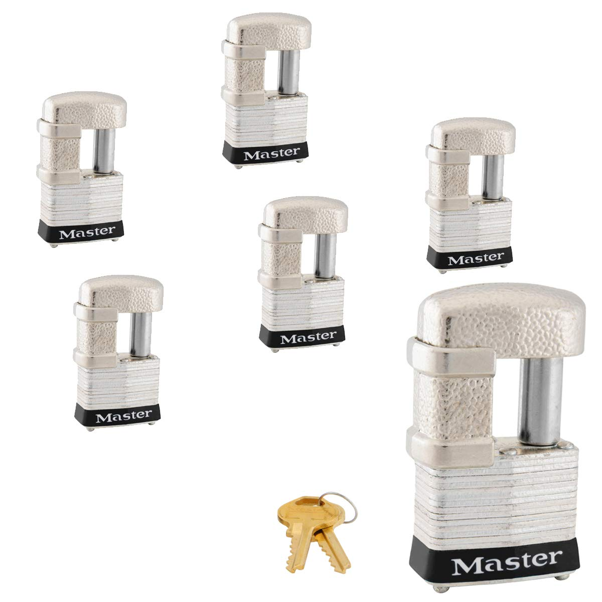 Master Lock - (6) Keyed Alike Trailer & Multi Purpose Padlocks, 37KA-6 by Master Lock