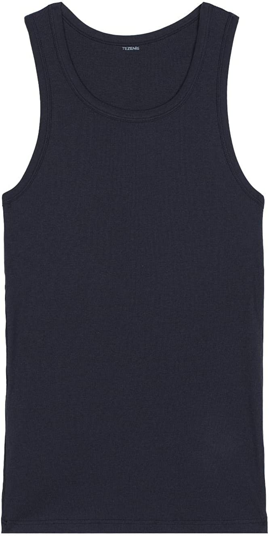 TEZENIS Mens Ribbed Cotton Vest Top