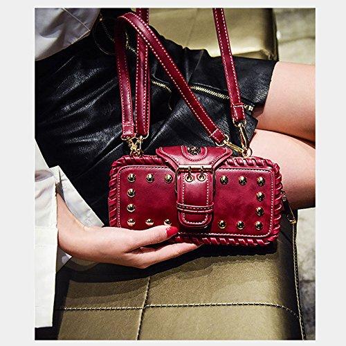 ZCM Frau Schulter Messenger Schulter Messenger Mori Mini Messenger Bag Damen Super Fire Tasche Cross Pack Flut - 4 Farben erhältlich Rot