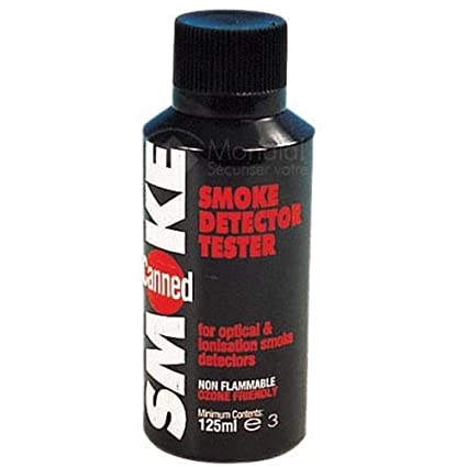 aerosol de prueba manual para probar los detectores de humo.
