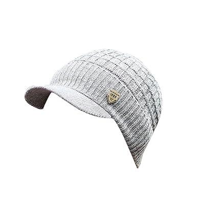 riou Sombrero de Invierno Hombres Sombrero de Lana Gorros de Punto ...