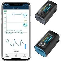 Viatom zuurstofverzadigingsmonitor met gratis app voor volwassenen en kinderen, bloedzuurstofverzadigingsmonitor voor…