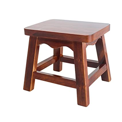 Amazon.com - Solid wood small stool / living room interior stool ...