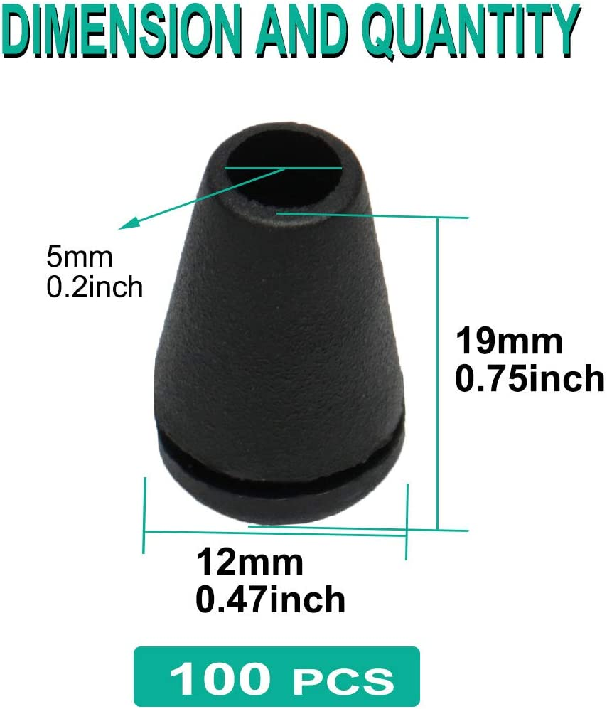 Sourcing Map Kunststoff-Endstopper mit Deckel f/ür Zubeh/ör 50pcs