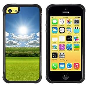 Suave TPU GEL Carcasa Funda Silicona Blando Estuche Caso de protección (para) Apple Iphone 5C / CECELL Phone case / / Nature Field Sun /