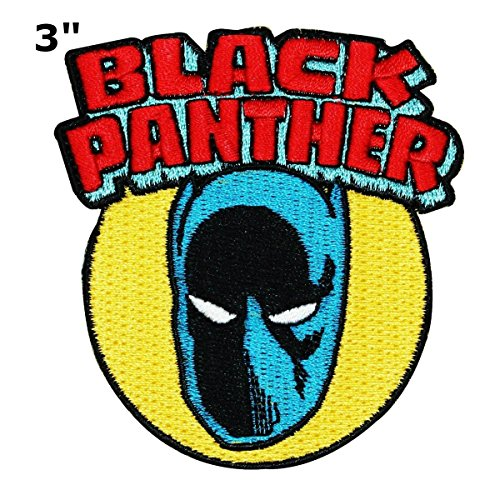 Black Panther Patch Wakanda Marvel Comics Superhero Theme logo Series 2018 New Movies Embroidered Iron / Sew on Badge DIY Appliques by Athena Brands (Tigers Logo Applique)