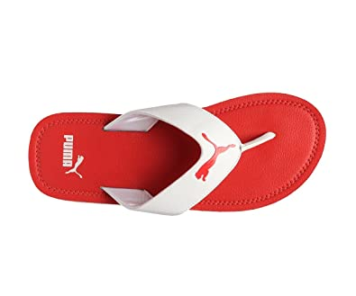 0ef5aea9a61e49 Puma Men s Flash Cat White Flip Flops Thong Sandals-10 UK India (44.5 EU)  (19041505)  Buy Online at Low Prices in India - Amazon.in