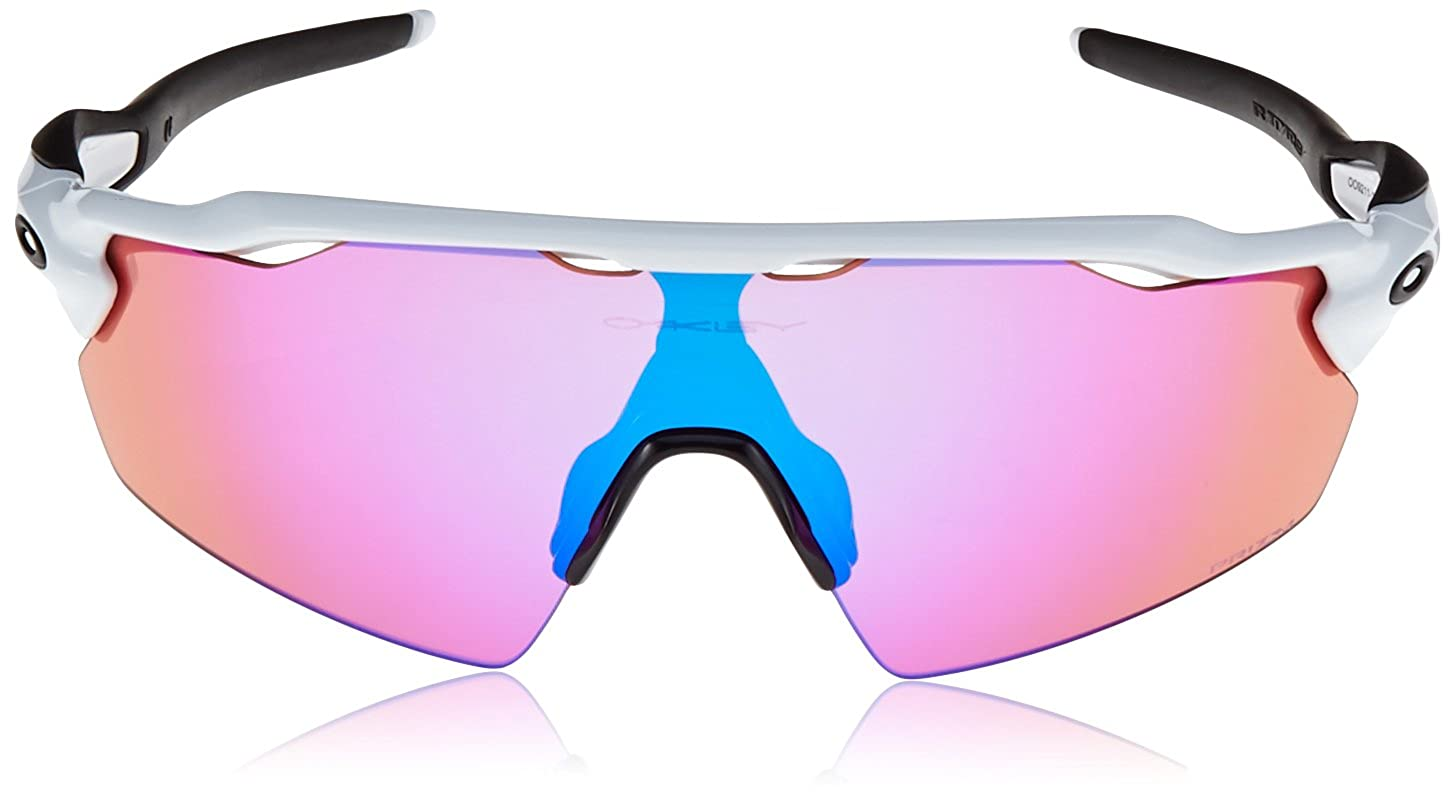 f063216276 Oakley Men s Radar Ev Pitch Non-Polarized Iridium Rectangular Sunglasses