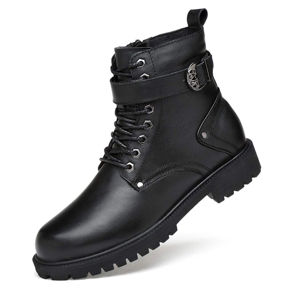 YAN Chaussures Homme Cuir Automne   Hiver Haut-Top Lacets Chaussures Martin  Bottes De Randonnée Chaussures De Mode Casual Quotidien Chaussures De  Marche,A ... c81d7d38e76d