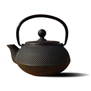 Old Dutch Cast Iron Sapporo Teapot, 20-Ounce, Black