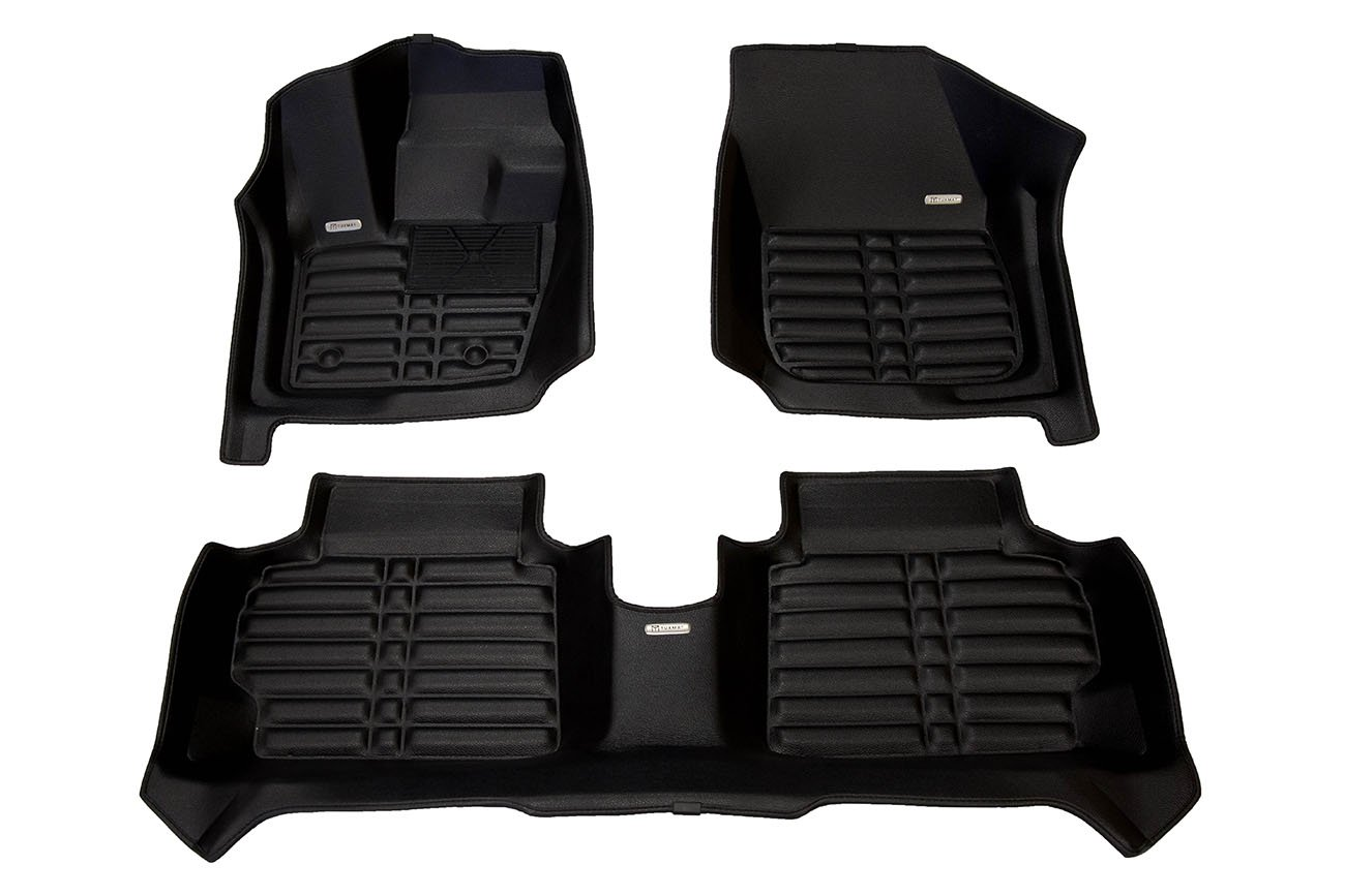 Full Set - Black All Weather The Ultimate Winter Mats Also Look Great in the Summer./The Best/Ford Fusion Accessory. Largest Coverage Waterproof TuxMat Custom Car Floor Mats for Ford Fusion 2017-2020 Models/- Laser Measured