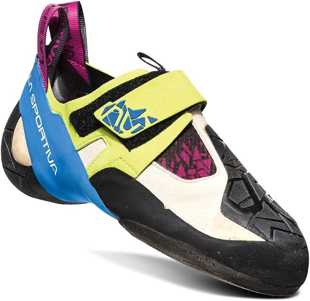 La Sportiva Women's Climbing Shoes, Beige, 7 us Little Kid