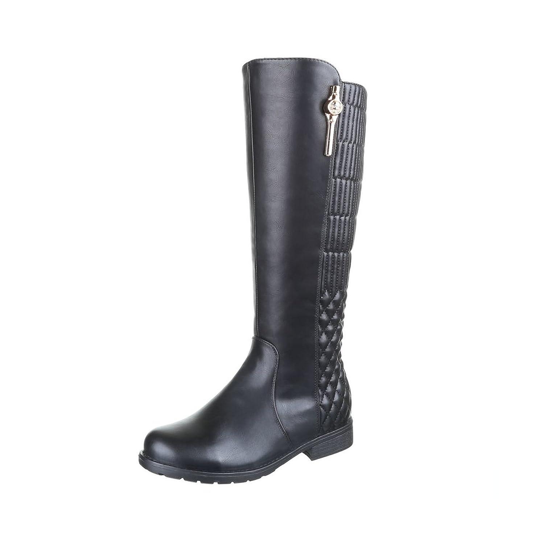 Edelnice Trachtenmode Damen Stiefel Gefüttert mit Steppmuster Farbe Schwarz  Gr. 36-41 (38): Amazon.de: Schuhe & Handtaschen