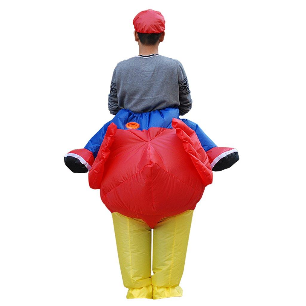 monkeyjack adultos Rider diseño de gallo pollo disfraz de ...
