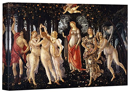 Allegory Of Spring by Botticelli Stretched Framed 12 L X 18 W