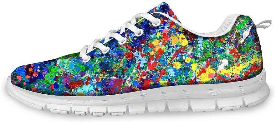 SpArt Spot Series Zapatillas Deportivas Art Sport Popular Zapatillas de Deporte para Correr al Aire Libre Damas Aire Libre Ejercicio Art Taste Girls Gym Shoes: Amazon.es: Zapatos y complementos