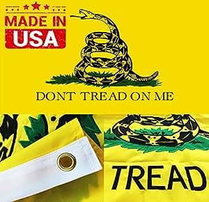 bordada bandera de Gadsden té parte superior calidad don 't Tread On Me. Leer la alerta., Double Decker 4 by 6 Foot