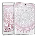 kwmobile Crystal case for Samsung Galaxy Tab S2 9.7 TPU silicon case tablet protective case cover with Design Indian sun in light pink white transparent