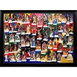 NBA Legends of Basketball Autographed / Signed Framed 60x40 Hand Painted Lithograph