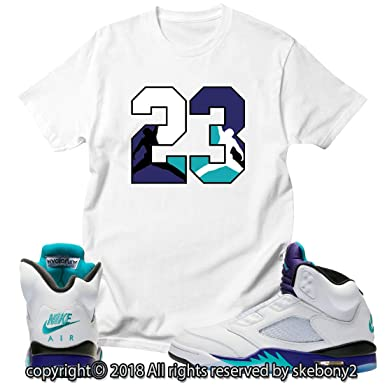 4394e40bca3 Custom T Shirt Matching Style of AIR Jordan V Fresh Prince Grape JD 5-1
