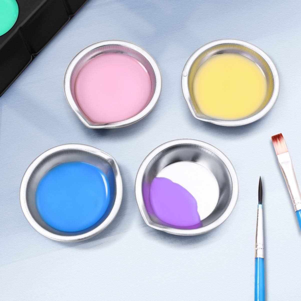 Cabilock Paletten Einfache Praktische Metallfarbe Malerei Farbhalter Farbschale f/ür Home Workplace Store 12St