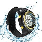 Lantop Sports Watch Professional Swimming Waterproof Multifunctional Activity Tracker Elegant Gift Digital Bluetooth Smartwatch Remote Camera Steps Counter Calories Stopwatch Alarm Telemeter
