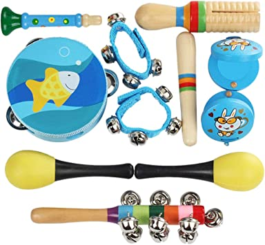 Mecotech Instrumentos Musicales para Niños, 10pcs Madera ...