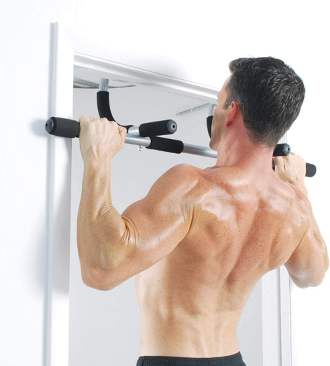 Jaina Chin Pull Up Bar Exercise Heavy Duty Doorway Fitness Home Gym Upper Body Workout