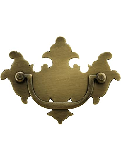 15816df661c Colonial Chippendale Brass Bail Pull - 2 1 2