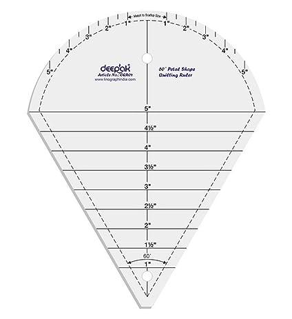 Amazon.com: 60° Petal Shape Quilt Designing and Crafting Quilting ...