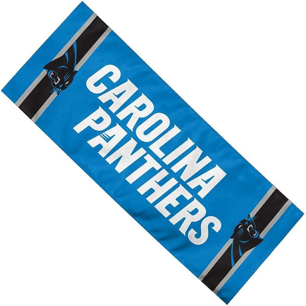 """NFL Team Enduracool Microfiber Towel, Carolina Panthers, 12"""" x 30"""""""