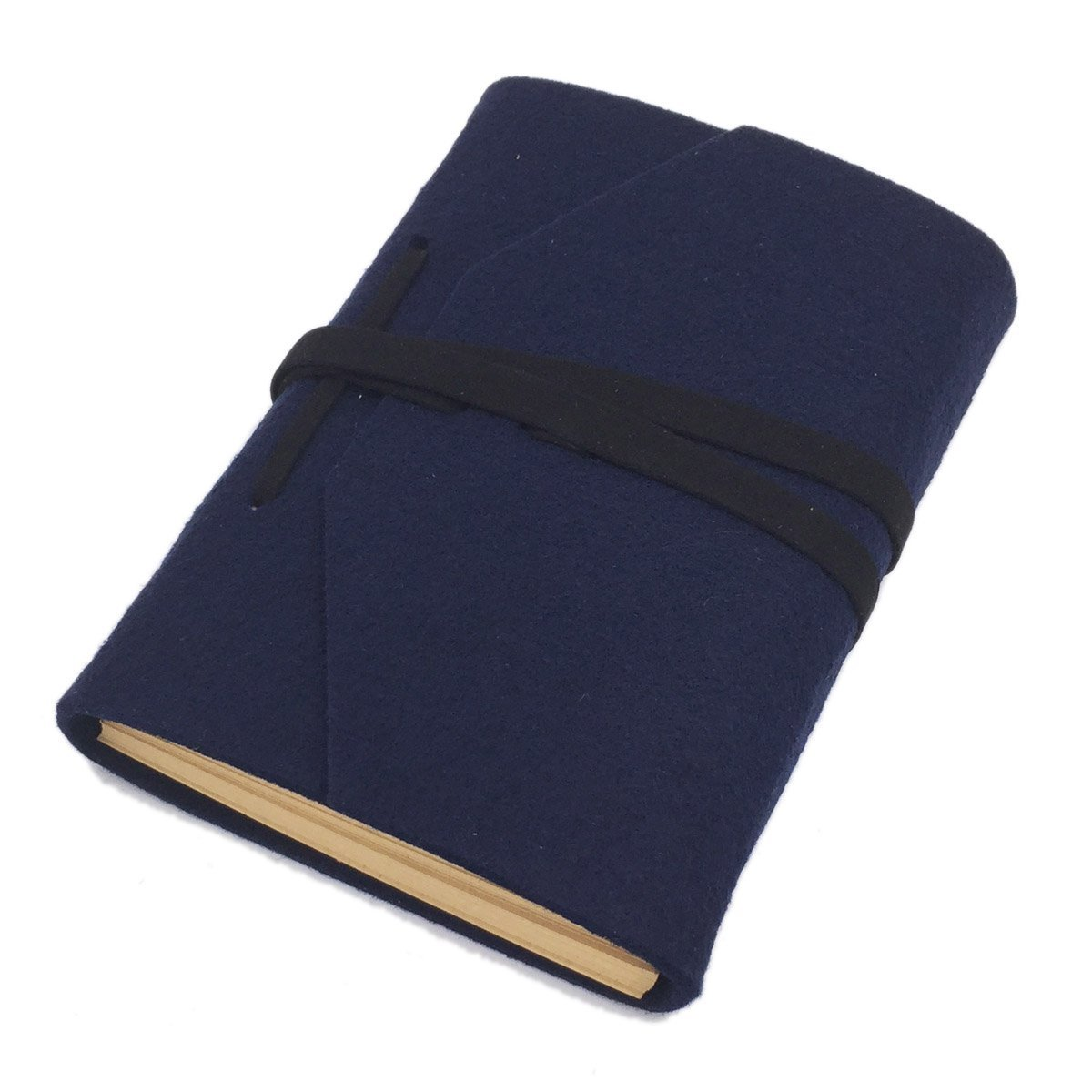 stile vintage per disegno Sayeec quaderno A4 con copertina rigida in feltro diario di viaggio e scrittura 7.2*5inch Blue