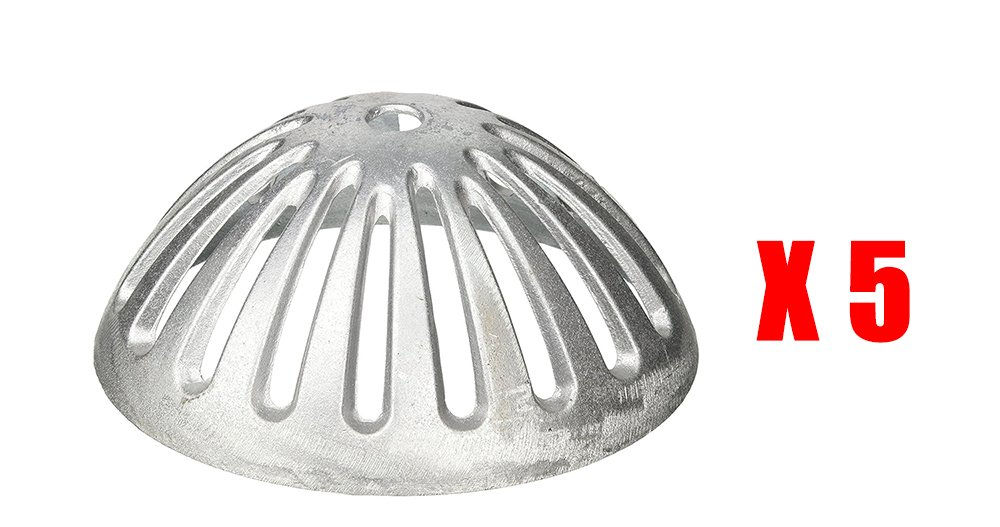 GSW FS-DS Aluminum Dome Strainer for 12'' Floor Sink. 5-1/2'' Diameter (5)