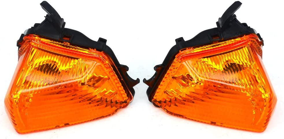 JFG RACING Front Turn Signals Blinker Light Lamp Indicator Cover Guard For KAWASAKI ER6N ER6F 2009-2011