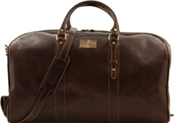 Tuscany Leather Francoforte Exclusive Leather Weekender Travel Bag - Large size  Dark Brown f1247420891db